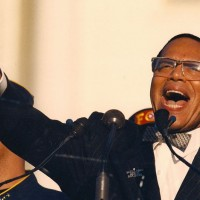 Controversial Nation of Islam leader Minister Louis Farrakhan