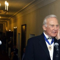 Buz Aldrin, Apollo 11 astronaut at Boston Symphony Hall