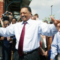 Rev. Jesse Jackson, left, and Boston Mayor Tom Menino