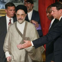 Former Iranian President Mohammed Khatami at Harvard